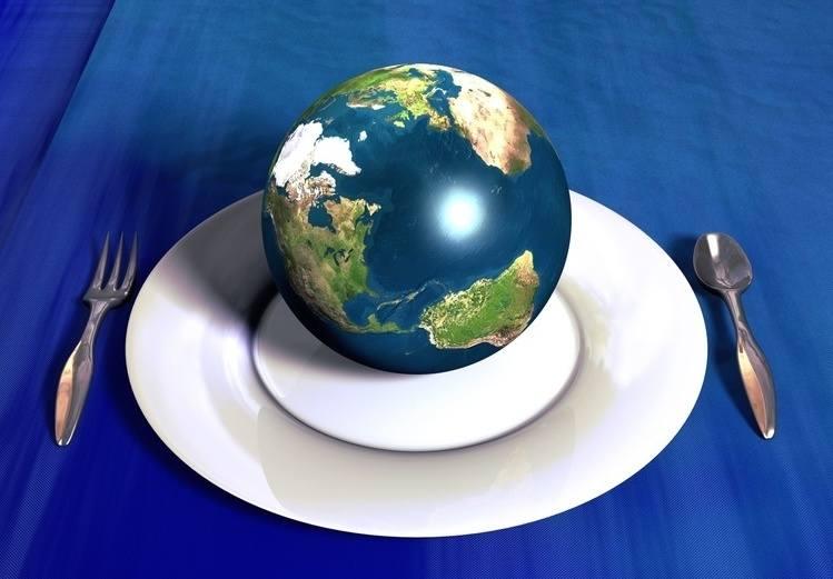 dieta, kula ziemska, co się je na świecie, talerz, sztućce, zdrowe jedzenie