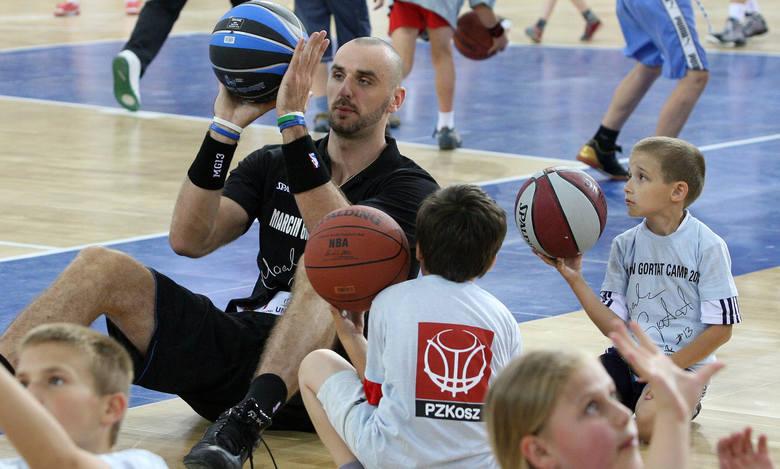 Nasz jedynak w NBA Marcin Gortat chętnie promuje koszykówkę wśród polskiej młodzieży