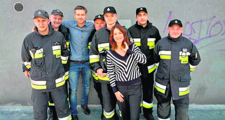 Strażacy z Kamienia też zagrali w serialu Diagnoza