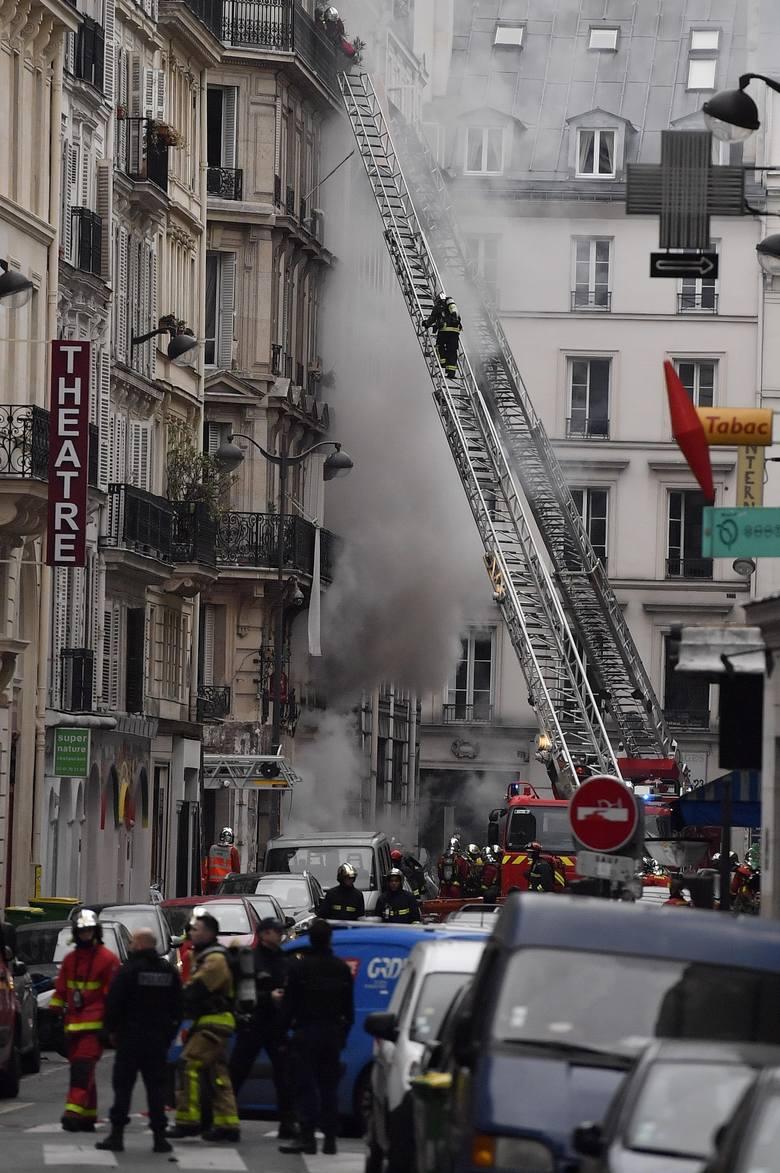 Miejsce eksplozji w Paryżu