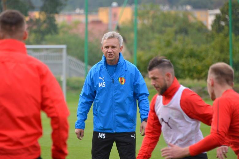 Piłkarze Korony Kielce we wtorek o godzinie 17 trenowali na stadionie przy ulicy Kusocińskiego. Zajęcia poprowadził nowy szkoleniowiec Mirosław Smyła.