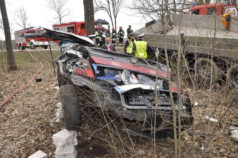 Prawdopodobną przyczyną tego tragicznego wypadku był dzik, który wybiegł z lasu przed hondę. Osobówka zjechała na drugi pas i uderzyła w ciężarówkę.