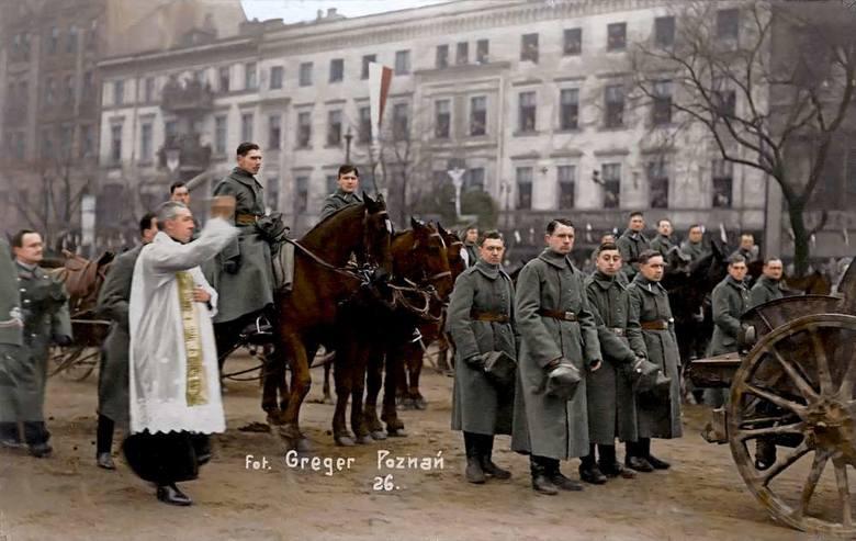 Poświęcenie armaty na Placu Wielkopolskim