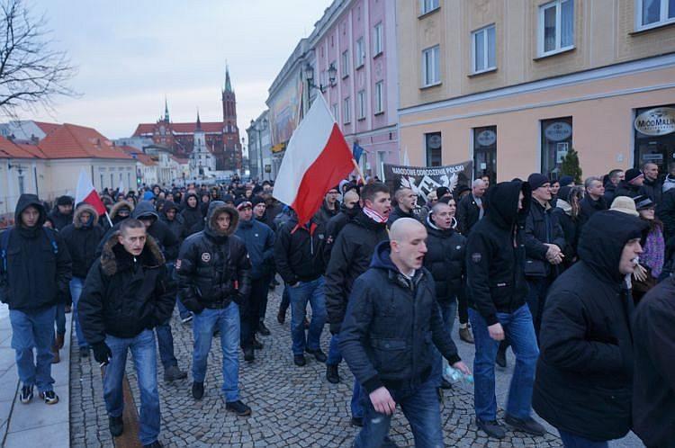 NOP Białystok. Manifestacja patriotyczna pamięci Żołnierzy Wyklętych (zdjecia, wideo)