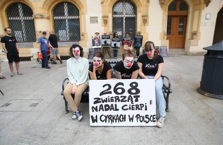 Dzień Cyrku Bez Zwierząt. Protest smutnych clownów [ZDJĘCIA]
