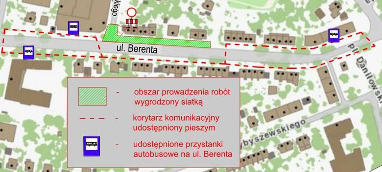 Remont ulicy Berenta we Wrocławiu
