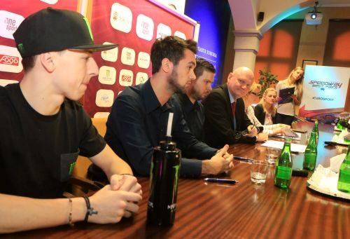 Paweł Przedpełski na konferencji prasowej