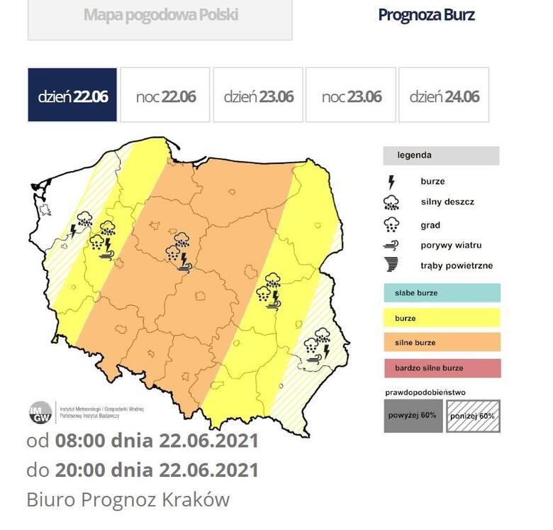 Wtorek pod znakiem burz na Dolnym Śląsku. Będzie padał grad! GDZIE JEST BURZA?