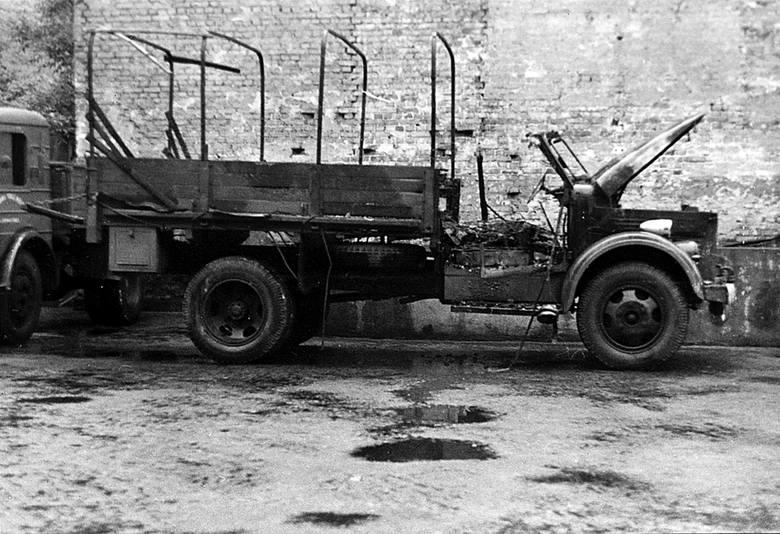 Wydarzenia Zielonogórskie - spalony samochód.