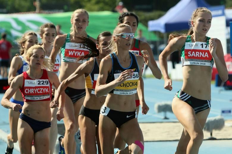 Angelika Cichocka podczas mistrzostw Polski w lekkoatletyce w Lublinie w 2018 roku