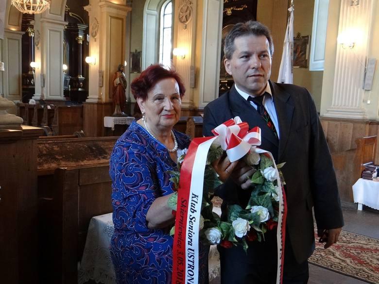 Złożenie wieńca: Grażyna Kutryś i Jacek Kania