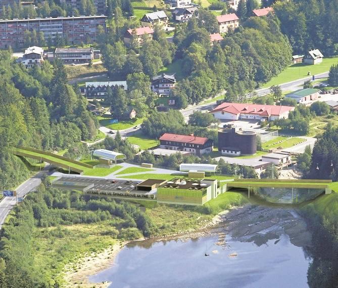 Stoki narciarskie w Szpindlu połączą kładki - nad drogą i rzeką