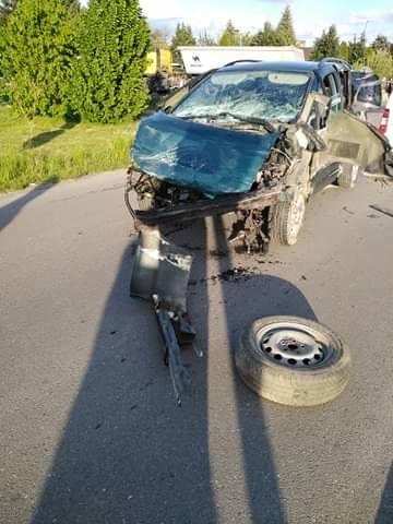 Zderzenie czterech samochodów w Adamówce [ZDJĘCIA]