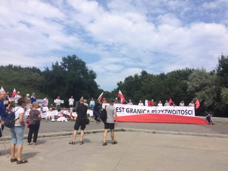 Protest na Westerplatte - sobota 28 lipca 2019 r.