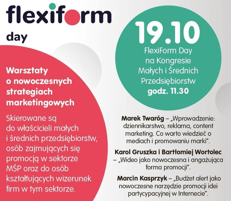 Flexiform Day Katowice 2018: warsztaty o strategiach marketingowych już w piątek, 19 października o godz. 11.30 podczas EKMiŚP w Katowicach