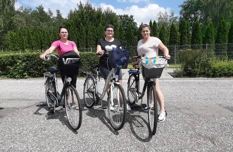 Rowerowa akcja w zakładzie Oras w Oleśnie.