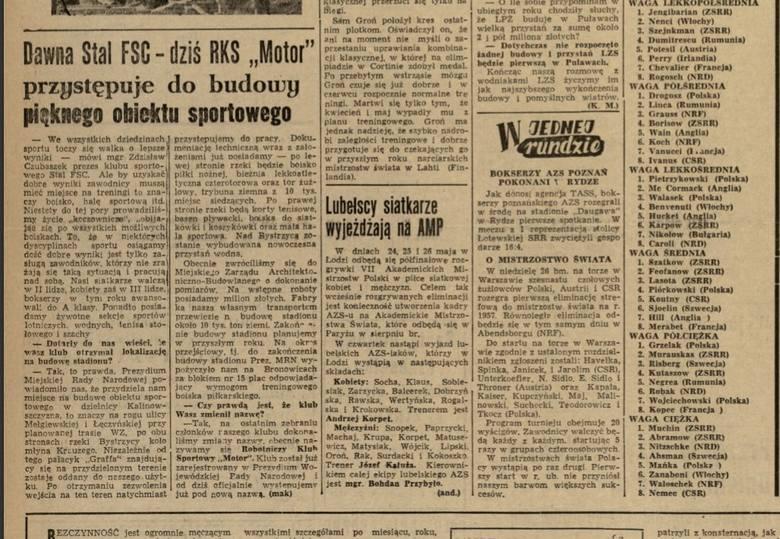 70-lecie Motoru Lublin: Klub miał ambitne plany budowy obiektów sportowych