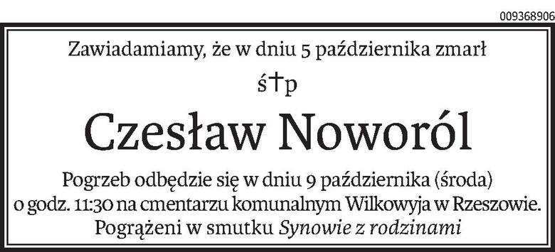 Nekrologi i Kondolencje z dnia 7 października 2019 roku