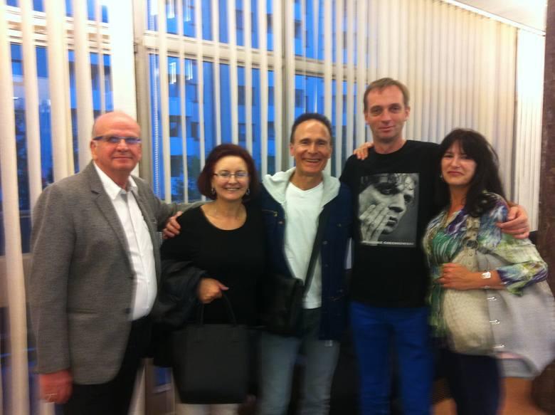 Rodzice Adama Palmy, Jerzy Grudnwald, Piotr oraz Jagoda