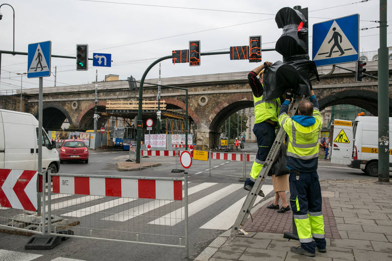 Drogowcy zdobyli szczyt w korkowaniu Krakowa