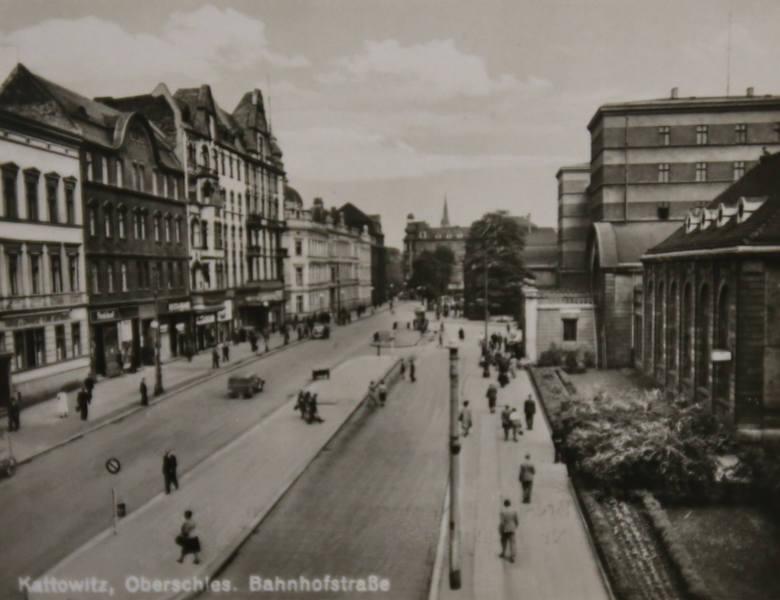Ulica Dworcowa w Katowicach, pierwsza połowa lat 40. XX w