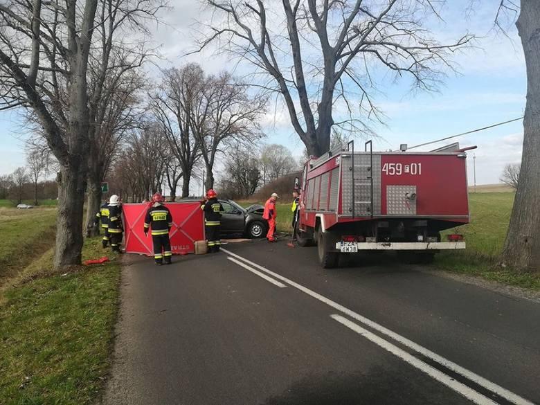 Do śmiertelnego wypadku doszło w niedzielę, 24 marca, na drodze koło miejscowości Brody (pow. żarski). W wypadku zginęła kobieta. Kierowca i pasażerka