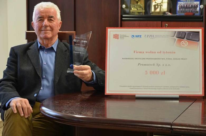 Promotech zwycięzcą w ogólnopolskim konkursie Firma wolna od tytoniu