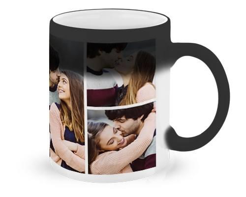 4. MAGICZNY KUBEKAle ją zaskoczysz! Pomyśli, że dostała w prezencie zwykły jednokolorowy kubek, do czasu, gdy zaparzy kawę lub herbatę. Pod wpływem temperatury