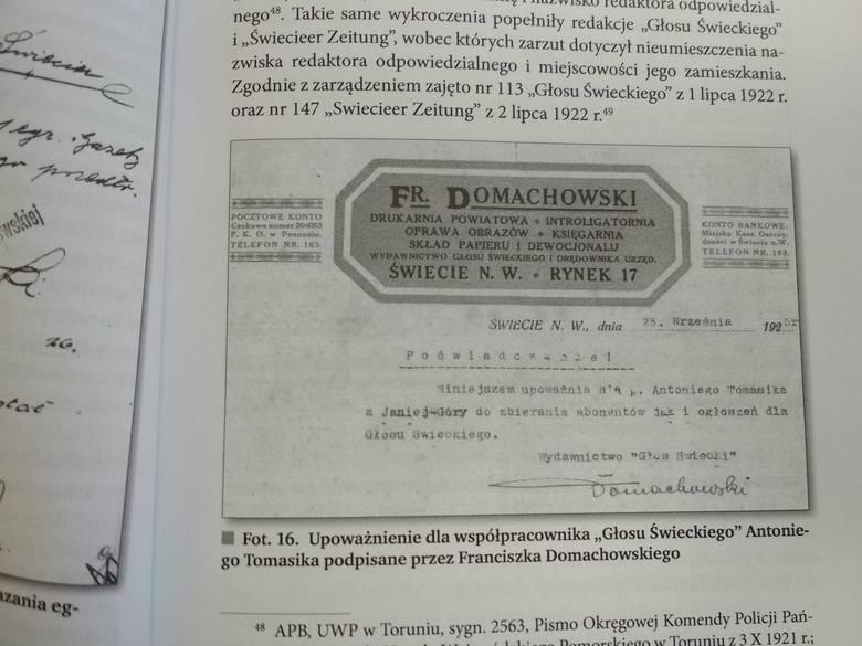 """Franciszek Domachowski - wydawca i redaktor międzywojennego pisma """"Głos Świecki"""""""
