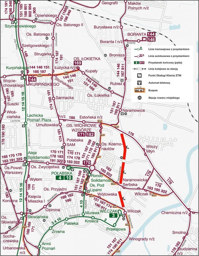 Prace nad budową tramwaju na Naramowice postępują. Za kilka dni zostanie zmieniona organizacja ruchu na skrzyżowaniu ul. Lechickiej i Naramowickiej