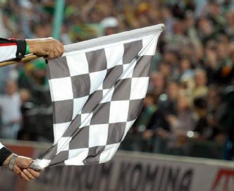 flaga szachownica żużel