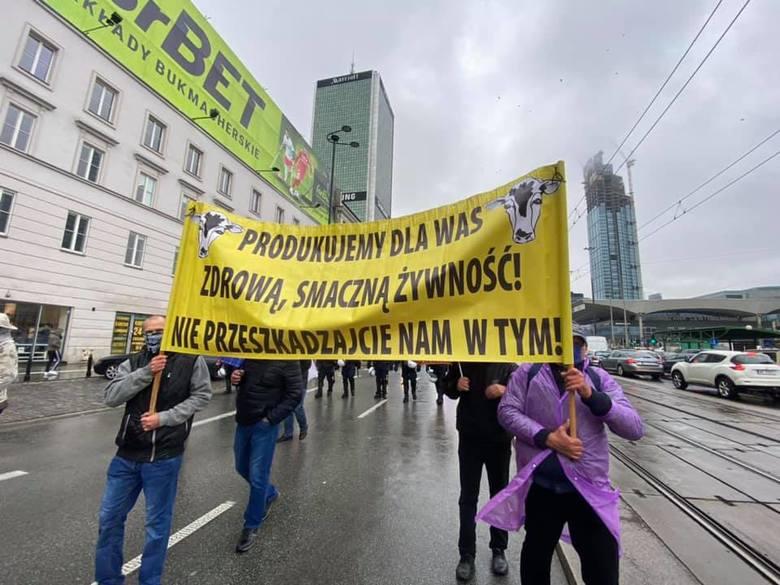 Protest rolników w Warszawie
