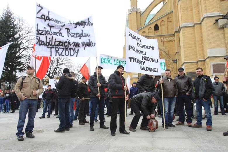 Syreny na ul. Piotrkowskiej. Hodowcy trzody chlewnej protestują przeciwko cenom wieprzowiny [FILM]