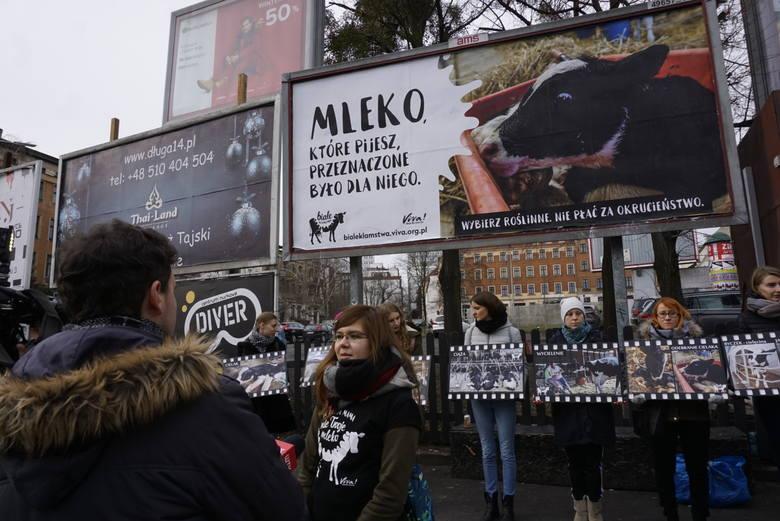 Od godziny 11 w niedzielę, 10 lutego na placu Wiosny Ludów, pod nowym billboardem trwała akcja rozdawania ulotek przechodniom. Osoby zaangażowane chcą