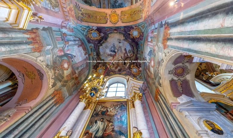 Najpiękniejsze lubelskie świątynie można zwiedzić w internecie. Kościół od środka i z lotu ptaka