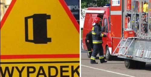 Wypadek na drodze Koszalin-Kołobrzeg. Trasa jest nieprzejezdna