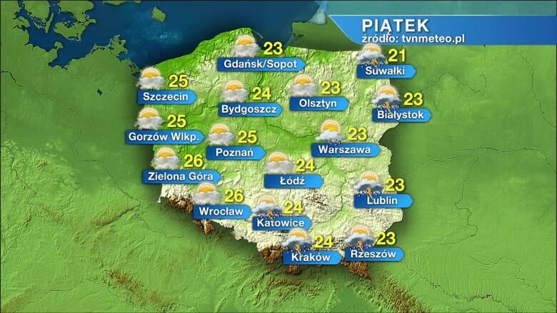 Pogoda na piątek, 11 czerwca. Piątek na ogół pogodny, tylko na wschodzie może popadać i zagrzmieć