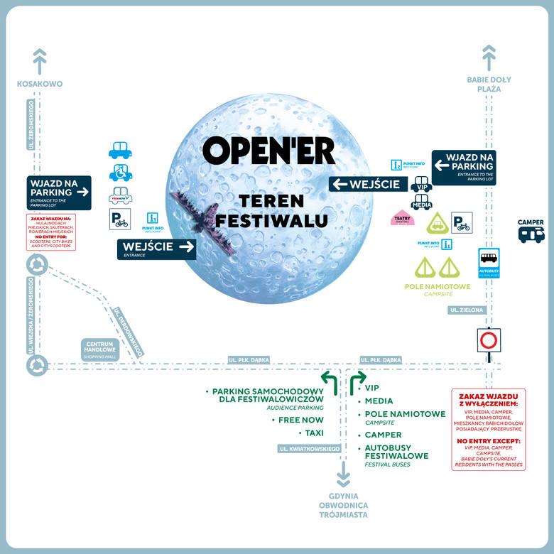 Open'er 2019 w Gdyni - DOJAZD. Jak dojechać na miejsce? Gdzie zostawić samochód i rower? Wykaz linii autobusowych i parkingów