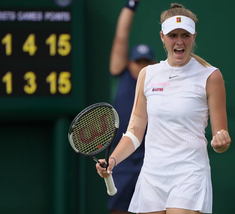 Martyna Kubka na kortach Wimbledonu