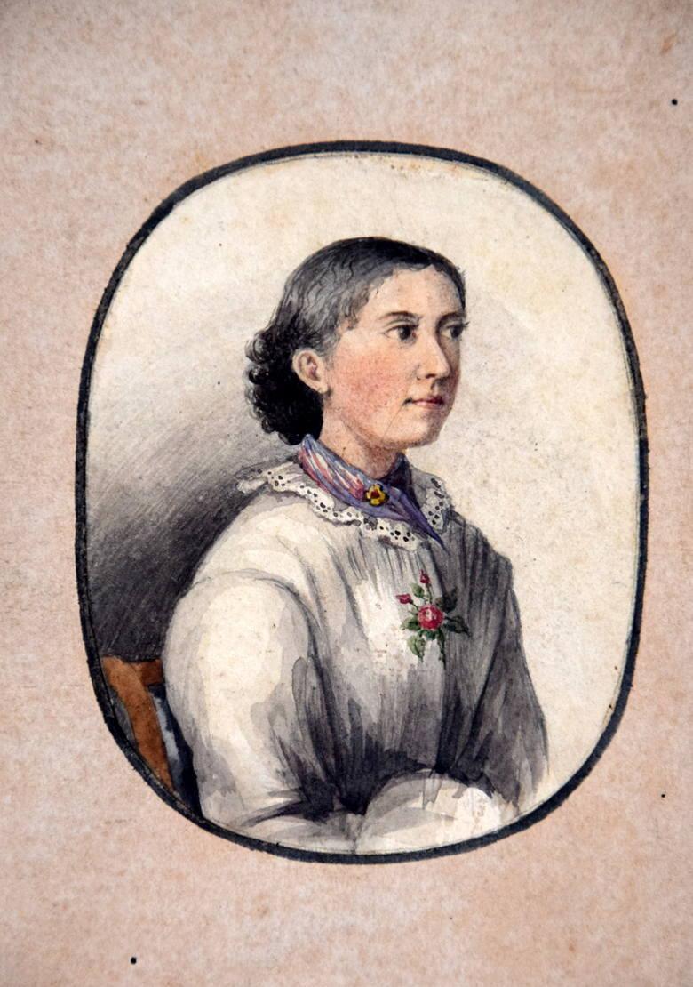 Teodora, matka inżyniera Rafała Łopacińskiego. Jan Łopaciński z Krakowa przypuszcza, że to syn narysował ten portret.