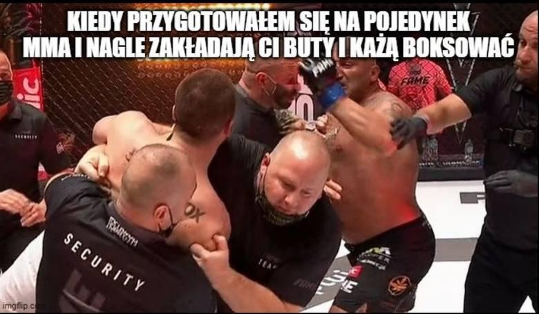 Marcin Najman w kuriozalnym stylu przegrał z Kasjuszem Życińskim w walce na Fame MMA 8. Pojedynek toczono w boksie, ale 41-latek i tak rzucił się na