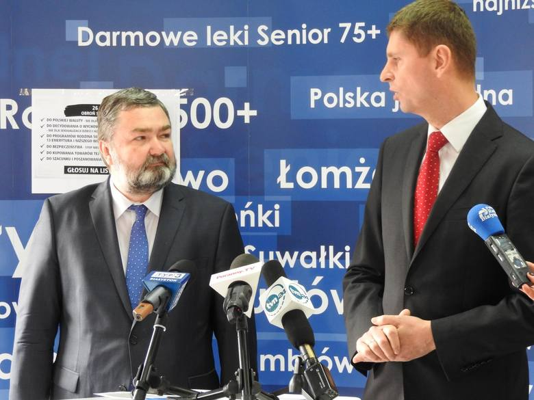 Karol Karski i Dariusz Piontkowski z Prawa i Sprawiedliwości