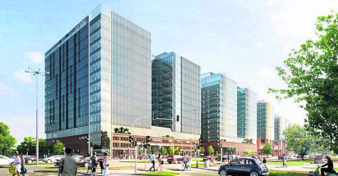 Trwa budowa największego w gdańskim kompleksie Alchemia budynku biurowego - Argonu
