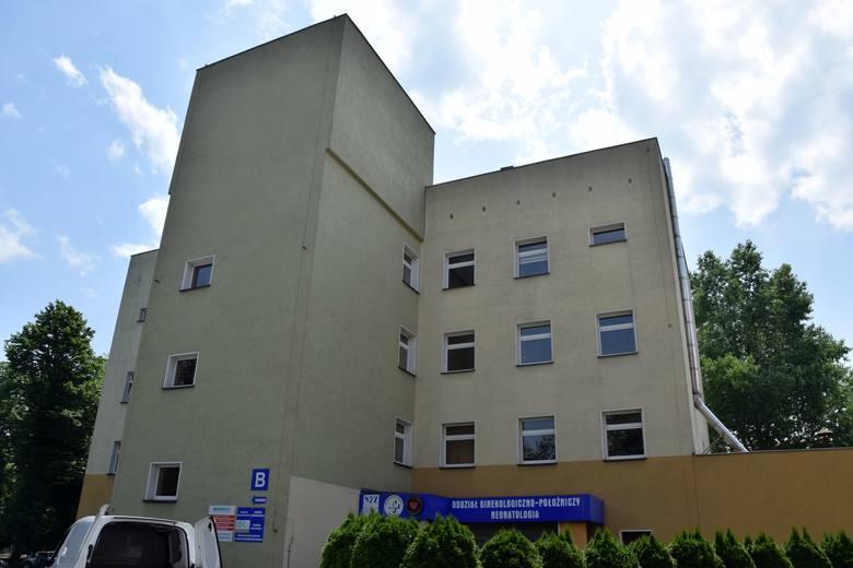 Szpital powiatowy w Kluczborku.