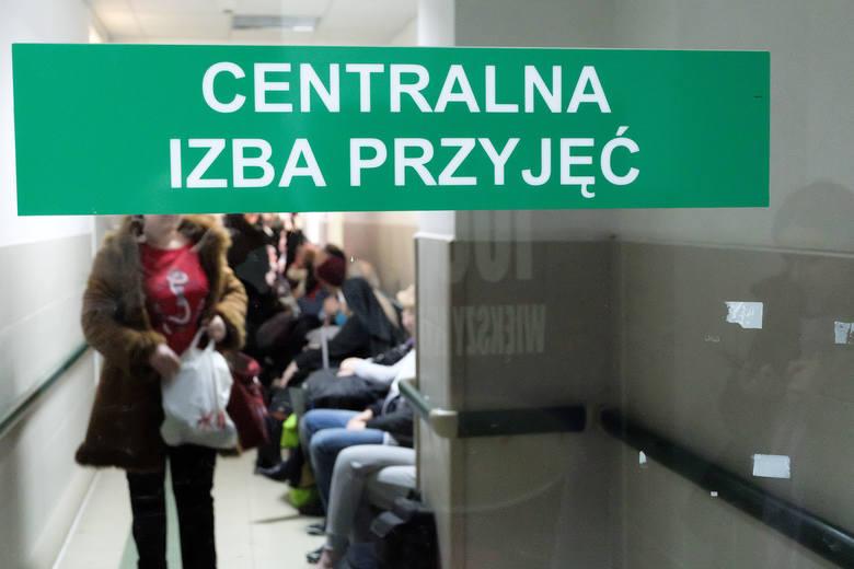 Izba Przyjęć w Samodzielnym Szpitalu Miejskim im. PCK w Białymstoku.