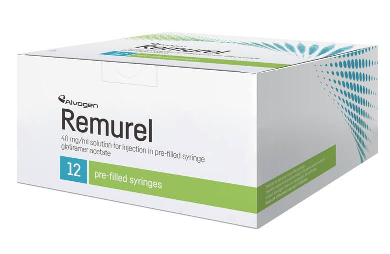 Remurel 40mg/ml- stosowane przy leczeniu stwardnienia rozsianego o przebiegu rzutowo-ustępującym- data wycofania: 05.06.2019Szczegóły wycofanych lekówAlvogen