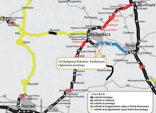 Tak wygląda odcinek drogi nr 10 między Wyrzyskiem a Bydgoszczą i dalej w kierunku wschodniej granicy województwa kujawsko-pomorskiego.