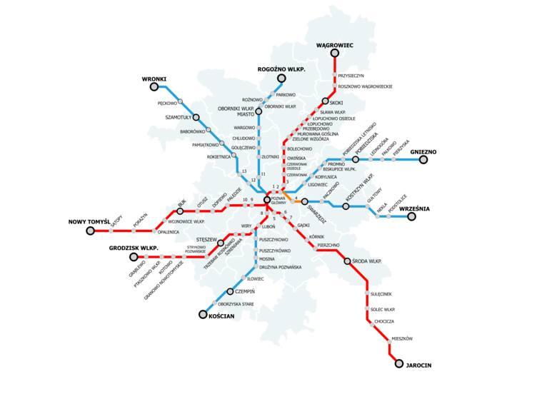 Poznańska Kolej Metropolitalna: Będzie więcej pociągów z Poznania do Wrześni i Rogoźna