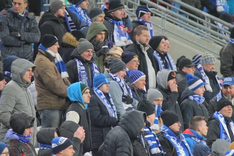 Kibice na meczu Lech Poznań-Lechia Gdańsk