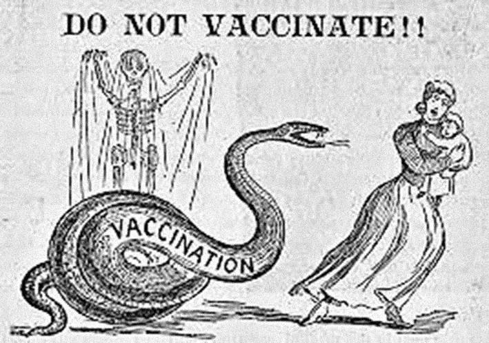 Demonstracja antyszczepionkowców w Londynie. Lata 50.